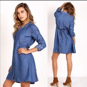 Splendid Denim Shirt Dress NWT